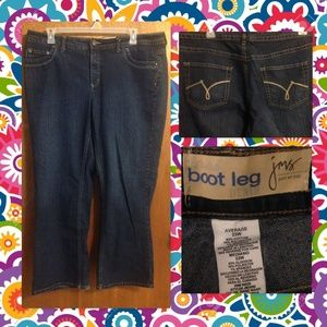 Nice JMS boot leg jeans in women's size 22